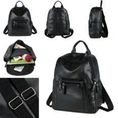 Harga New Arrival Qt1423Black Ransel Tas Import Wanita Murah Korea Style Fullset Murah