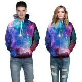 Jual Baru Kedatangan Ruang Galaxy 3D Sweatshirts Pria Wanita Hoodies Dengan Hat Cetak Bintang Nebula Musim Gugur Musim Dingin Loose Thin Hooded Hoody Tops Untuk Boys Girls Friends Nebula Biru Intl Oem Original