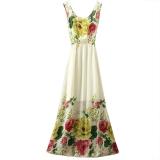 Jual Baru Kedatangan Musim Panas Wanita Gaun Seksi Chiffon Vintage Gaya Fashion Cetak Wanita Gaun Panjang Intl Baru