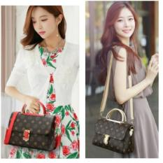 Situs Review New Arrival Best Seller Qq810109 Bag Rice Red Tas Import Wanita Murah Korea Style
