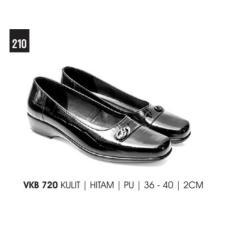 Everflow - New Arrival Sepatu Heels Wanita / Formal Wanita / Pantofel Wanita/Kulit asli hitam VKB 720 Heels 2cm