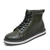 Beli New Arrive Cool Men Genuine Leather High Top Martin Boots Waterproof Ankle Boots Men Casual Shoes Intl Murah