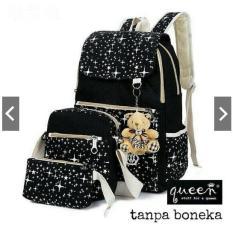 New!!! Backpack ransel tas canvas 3in1 Tribal tas sekolah kuliah anak remaja cewe wanita murmer