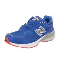 New Balance M990 Pria NYC Marathon Menjalankan Sepatu, Ukuran: 8 Lebar: D Warna: biru/Merah/Putih-Internasional