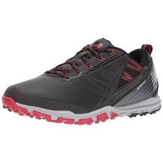New Balance Pria Minimus SL Golf Sepatu, Hitam/Merah, 14 D D AS-Internasional