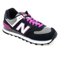 Spesifikasi New Balance Wl574Sbp B Wanita Hitam Pink Yang Bagus