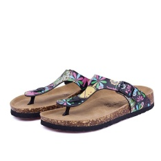 Pantai Baru Cork Flip Flops Slipper Musim Panas Kasual Wanita Campuran Warna SLIP ON Sandal Flat Sepatu (Multicolor-19) -Intl