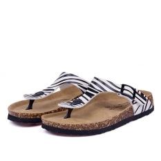 Pantai Baru Cork Flip Flops Slipper Musim Panas Kasual Wanita Campuran Warna SLIP ON Sandal Flat Sepatu (Multicolor-2) -Intl