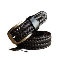 Jual Baru Dikepang Men Belt Fashion Pria Sabuk Deluxe Genuine Leather Baik Sapi Lapisan Kedua Strapless Pria Kulit Untuk Jeans Belt Pria 110 Cm Hitam Intl Original