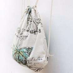 Baru Merek 3D Fashion Dicetak Pola Kupu-kupu Lucu Girl'S Ransel By LAZADA Indonesia Lihat Toko Lucky Shopping Drawstring Bag-Intl