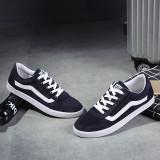 Promo Pria Kasual Baru S Canvas Shoes Pria Korea Untuk Membantu Rendah Tide Bernapas Kasual Sepatu Kanvas Biru Oem