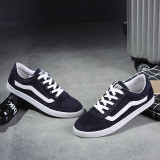 Spek Pria Kasual Baru S Canvas Shoes Pria Korea Untuk Membantu Rendah Tide Bernapas Kasual Sepatu Kanvas Biru Tiongkok