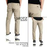 Jual New Celana Chino Motz Original Cream Muda Branded Original