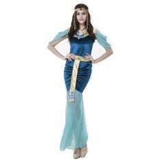 Baru Pakaian Wanita Halloween Mesir Dewi Cosplay Kostum Slim Role Play Sexy Wanita Gaun Panjang-Internasional