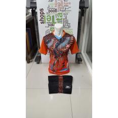 New Coming-Kostum Kaos Sepakbola Futsal Volly Takraw Bahan PE Motif Printing M L XL Plus Celana Pendek 23.25