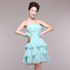 Toko New Cute Biru Hijau Bahu Sifon Pernikahan Bridesmaids Gaun Pendek Lady Mini Evening Gaun Pesta Gaun Cute Gadis Pendek Dresses Lace Up Gaun Belakang Warna Biru Hijau Ukuran Xs Xxl Q17203 Intl Terlengkap