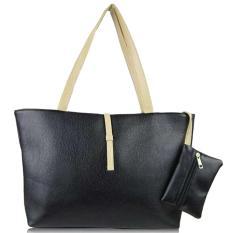 Desain Baru Permen Berwarna Handbags Anak-ibu Hubungan Wanita Tas PU Kulit Tas Bahu Hitam