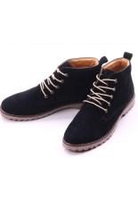 Harga Baru Desain Kulit Pria Martin Boots Hitam Asli