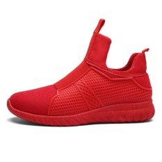 Desain Baru Pria Slip Ons Nafas Sneakers Sepatu Basket Sepatu-Intl