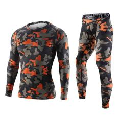 Toko New Design Military Army Camo Men S Training Cycling Running Long Sleeves Shirts With Long Pants Set Red 3315 16 Int S Intl Yicc