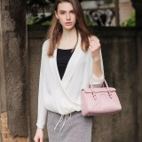 Spesifikasi New Design Oil Wax Genuine Leather Handbag Women Shoulder Bags Pink Purple Buy 1 Get 1 Freebie Terbaru