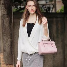 Jual New Design Oil Wax Genuine Leather Handbag Women Shoulder Bags Pink Purple Buy 1 Get 1 Freebie