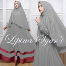 Jual New Dress Gamis Fashion Lipina Syari Full Baloteli Grosir