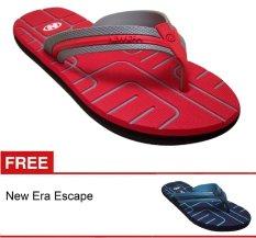 New Era CSA Escape Merah + Gratis Sandal
