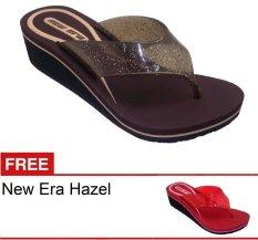 New Era CSA Hazel Coklat + Gratis Sandal