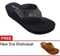 New Era CSA Shehrazat Hitam + Gratis Sandal