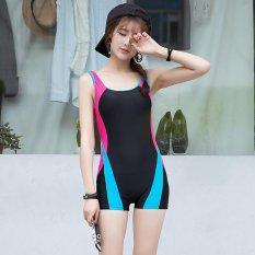 New Fancy Gaya Klasik Cepat Kering Women's One-piece Swimsuit & Swimwear-Hitam-INTL (int: M)