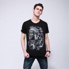 Harga Baru Fashion Merek Pakaian 3D Indian Cetak T Shirt O Neck Lengan Pendek Boy Cotton Pria T Shirt Casual Man Tees Mens Tops Hitam Intl Di Tiongkok