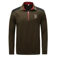 Baru Fashion Kasual Nyaman Cotton Long Sleeves Ritsleter Musim Gugur Musim Winter Big Kode Men Polo Shirt-Intl