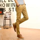 Beli Baru Fashion Nyaman Mens Casual Pants Cotton Linen Slim Celana Celana Santai Korea Business Suit Intl Pakai Kartu Kredit