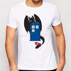 Jual New Fashion Doctor Who Regeneration Printed Mens T Shirt Short Sleeve White Antik
