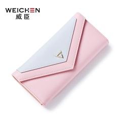 Tips Beli Gaya Baru Amplop Buckle Lady Long Wallet Pink Intl