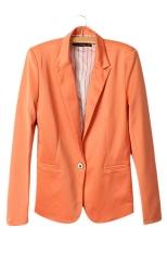 Beli Baru Fashion Wanita Permen Warna Mantel Dasar Slim Suit Jaket Blazer 6 Warna Secara Angsuran