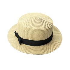 Jual New Fashion Wanita Lady Fedora Trilby Topi Bowknot Straw Panama Beach Sun Hat Intl Not Specified Asli
