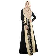 new-fashion-women-muslim-maxi-dress-contrast-color-pitches-long-sleeve-abaya-kaftan-islamic-indonesia-robe-long-dress-intl-4137-16482867-174d853162d8d0271e5ecc59d0e8553c-catalog_233 Kumpulan List Harga Muslim Dress From Indonesia Paling Baru bulan ini