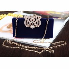 Spesifikasi New Fashion Women S Evening Party Club Clutch Wedding Bridal Purse Bag Handbag Blue Intl Dan Harga