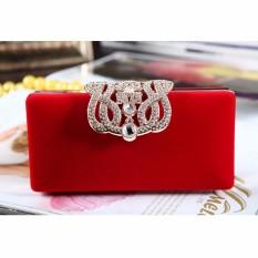 Harga Baru Fashion Wanita Malam Pesta Club Clutch Pernikahan Bridal Dompet Casing Untuk Wanita Merah Intl Oem Baru