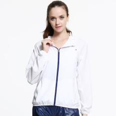 Promo Toko Baru Fashion Wanita Kolam Pria Kulit Perlindungan Anti Sun Protection Factor Guards Uv Proof Mantel Jaket Putih 0152