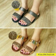 New!! Fitflop Lulu Slide Swarovski