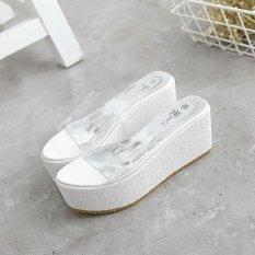 Ulasan Lengkap Flip Flops Baru 2017 Musim Panas Tebal Bawah Sandal Fashion Platform Nyaman Sandal High Heels Sandal Putih