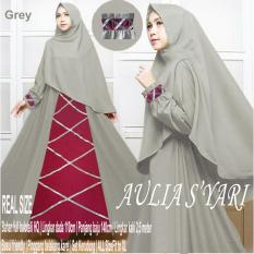 Jual New Gamis Syari Aulia Grey Original Size Gamis Modern Online