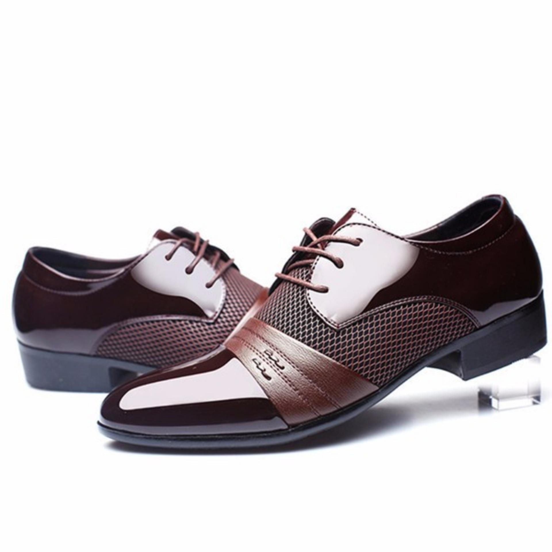 Baru Gaun Formal Pria Sepatu Kulit Asli Sepatu Kasual Bisnis Berjabat Gaun  Kasual -Intl 4f833272b2