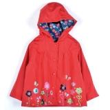 Tips Beli Baru Gadis Anak Anak Lucu Cetak Hooded Lengan Panjang Jaket Waterproof Jas Hujan Yang Bagus