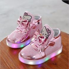 Beli New Gadis Sepatu Fashion Hook Loop Led Bayi Sepatu Anak Menerangi Glowing Sneakers Little Gadis Princess Anak Sepatu Dengan Lampu Pink Intl Pakai Kartu Kredit