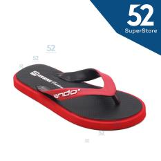 Ando Sandal Jepit/Flip Flop New Hawaii Fashion - Black/Red Size 38-42