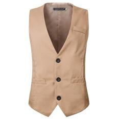 Beli Baru Hot Bisnis Liburan Single Breasted Suit Rompi Warna Warni Pria Gaun Rompi Ukuran Lebih Internasional Nyicil